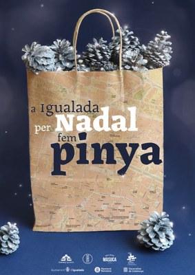 L'Ajuntament d'Igualada convida la ciutadania a fer pinya comprant als comerços locals aquest Nadal