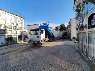 L'ajuntament d'Igualada inicia la segona fase dels treballs de drenatge del Cementiri Vell