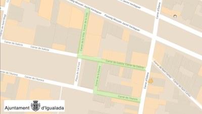 L'Ajuntament instal·la un control fotogràfic de matrícules per accedir amb vehicle a la zona del C/ Galícia