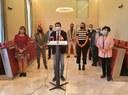 L'alcalde, Marc Castells, presenta la proposta de reordenació del cartipàs municipal