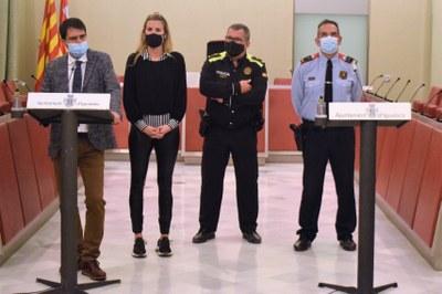 L'alcalde, Marc Castells, anuncia contundència contra els actes violents com els de dissabte