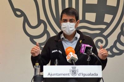 """L'alcalde, Marc Castells, indica que les dades sanitàries a Igualada """"milloren, però no són bones"""""""