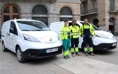 La Brigada incorpora dues furgonetes 100% elèctriques