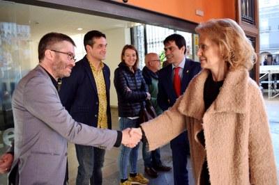 La consellera Vilallonga visita l'Ajuntament d'Igualada