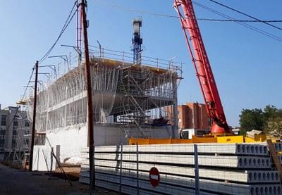 La construcció del futur Centre Cívic Nord continua avançant