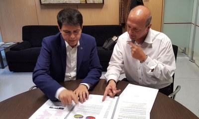 La Diputació lliura dos estudis de mobilitat a l'Ajuntament