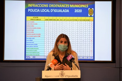 La Policia Local ha aixecat 1.187 actes relacionades amb la Covid-19 durant l'any 2020