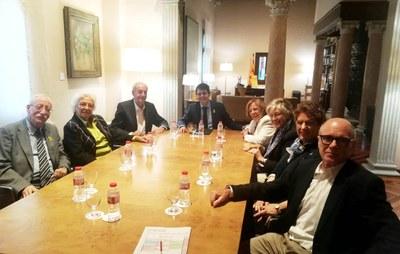 La Síndica de Greuges d'Igualada visita el president de la Diputació