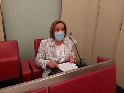 La Síndica de Greuges, Rosa M. Sánchez, presenta la memòria d'activitats del 2020