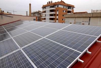Les instal·lacions fotovoltaiques municipals estalvien 22,5 tones de CO2