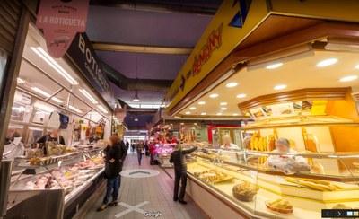 L'interior del Mercat de la Masuca ja es pot visitar a Google Maps