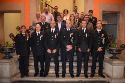 Lliurament de les Medalles de Permanència a sis agents de la Policia Local