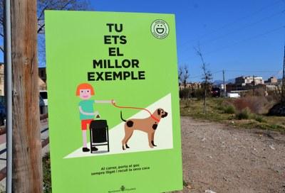 Nous cartells criden al civisme dels propietaris de gossos
