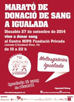 Nova Marató de Donació de Sang d'Igualada