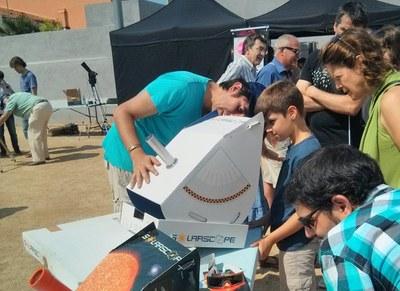 Observació solar amb Cultura en Família