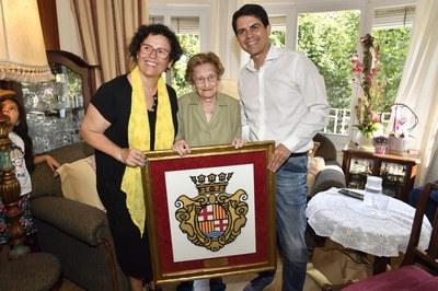 Paquita Tort, nova àvia centenària a Igualada