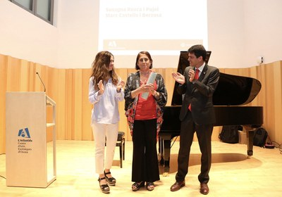 Pepita Jorba rep el premi Oriol Martorell de pedagogia musical