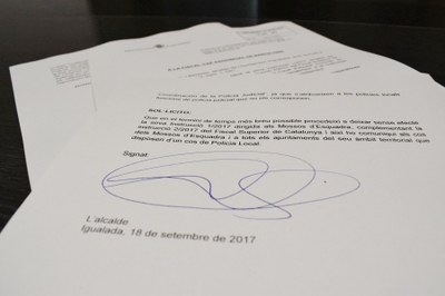 Petició perquè Fiscalia no imposi tasques judicials a la Policia Local