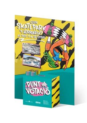 Procés participatiu per decidir el model d'skatepark que s'instal•larà al Parc Central