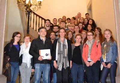 Recepció a 24 estudiants francesos del Màster en Enginyeria del Cuir