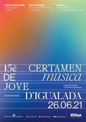 Segueix obert el termini d'inscripcions per participar al 15è Certamen de Música Jove d'Igualada