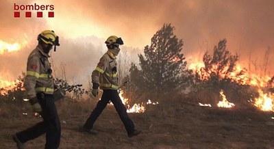 Seguiment de l'incendi forestal d'Òdena (dilluns, 11h)