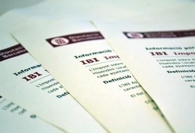 Termini per demanar subvencions pel pagament de l'IBI