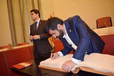 Visita a Igualada del conseller El Homrani