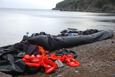 Xerrada al voltant de l'arribada dels refugiats a Europa