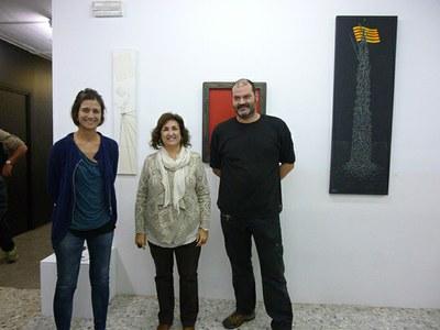 """Inaugurada l'exposició """"Independència"""", de Jordi Sanahuja, a l'Escola Municipal d'Art Gaspar Camps"""