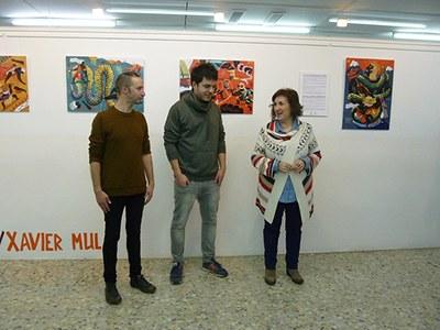 Inaugurada l'exposició d'il·lustracions de Xavier Mula i Pitu Alvarez