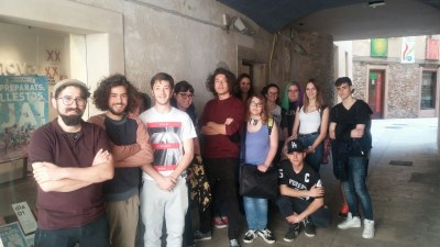 Els alumnes de La Gaspar visiten l'exposició de Quartada a l'Empremta