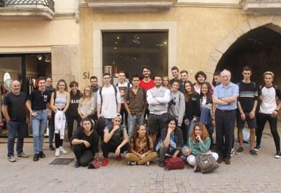 """Els alumnes de La Gaspar visiten l'exposició """"Packaging made in Anoia"""" a l'Empremta"""