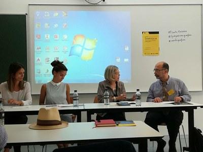 """Raquel Camacho, directora i professora de """"La Gaspar"""" participa al Symposium Grafica a  l'escola Massana"""