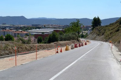 El nou vial per vianants a Les Maioles avança segons el previst
