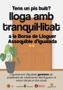 """En marxa la campanya """"Lloga amb tranquil·litat"""" per omplir d'habitatges la Borsa de Lloguer de l'Ajuntament d'Igualada"""